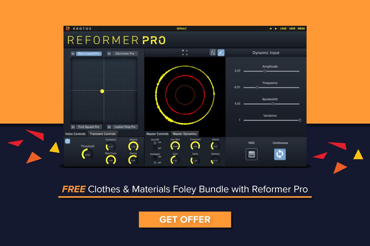 Reformer Pro 可免费获取衣服和材料特殊音效套装