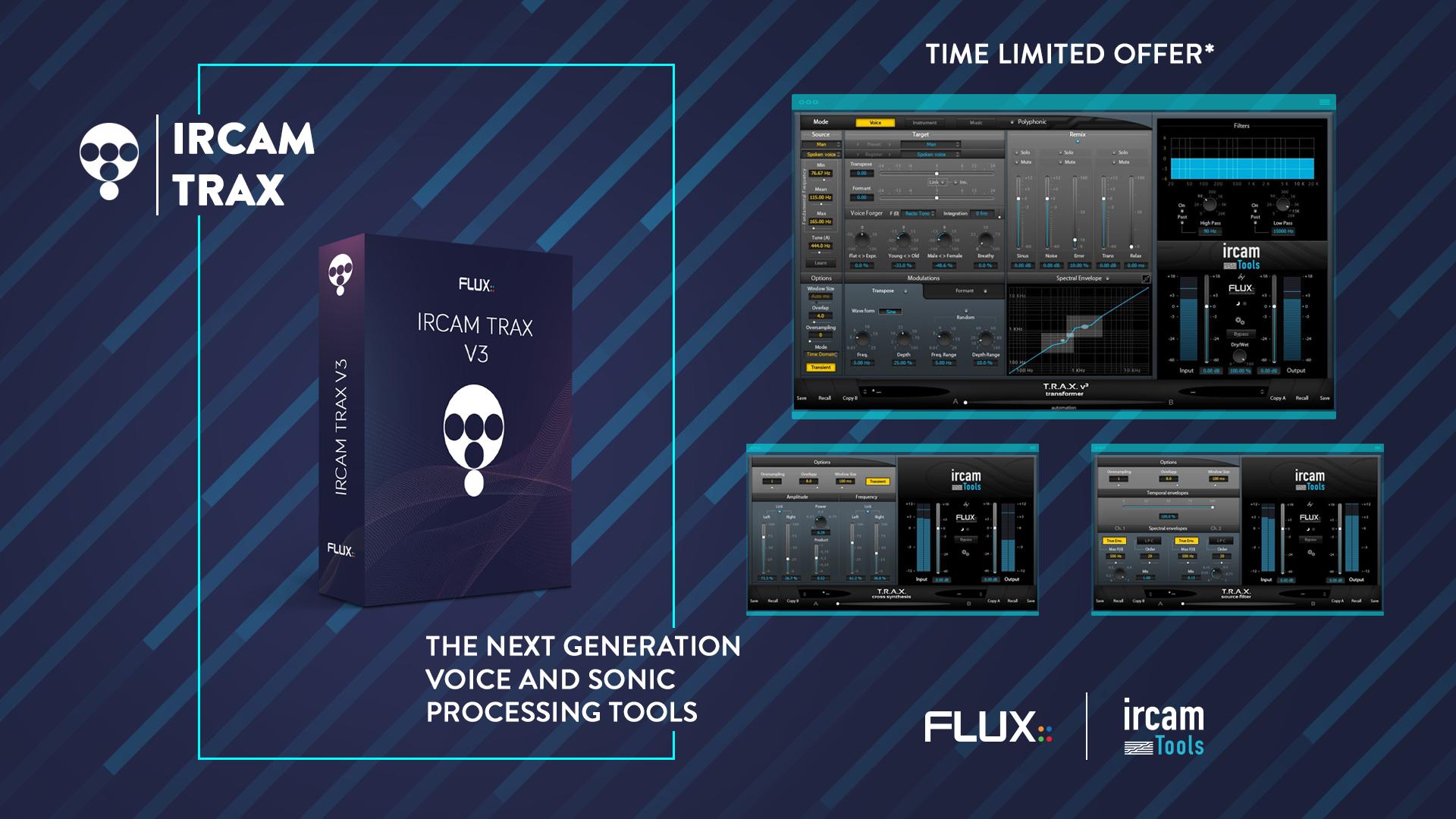 次世代人声,乐器变声软件演示 Flux Ircam Trax v3
