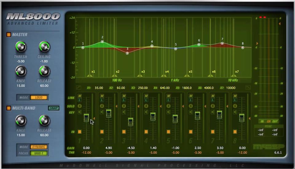 McDSP 母带音量插件演示