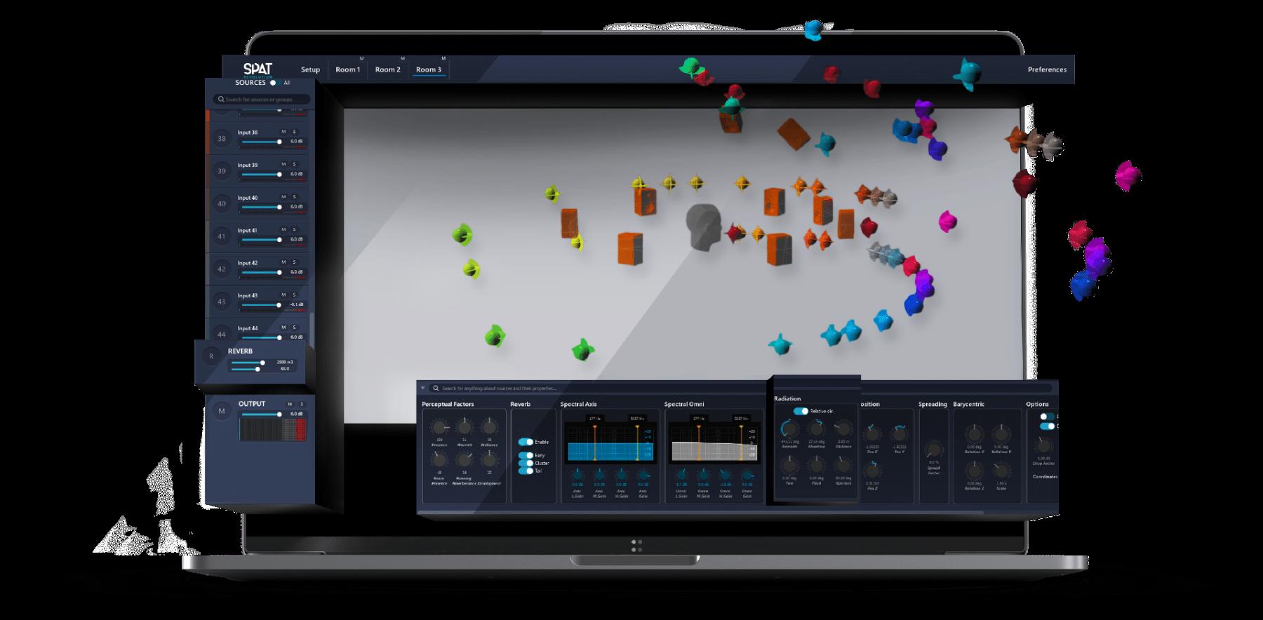 Spat Revolution沉浸式音频引擎中的自定义扬声器配置