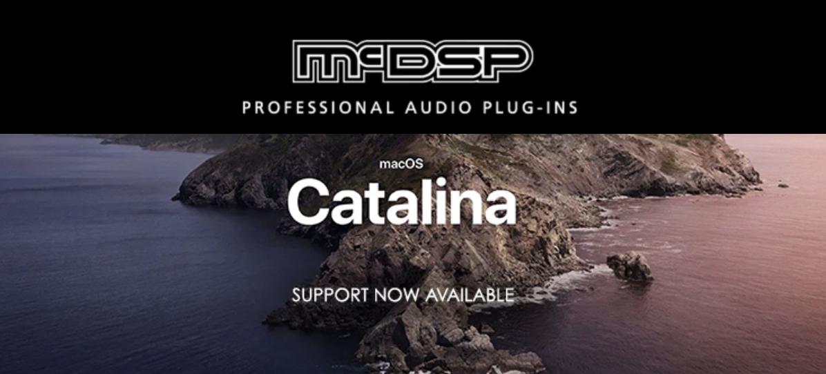 McDSP现已支持Mac OS Catalina
